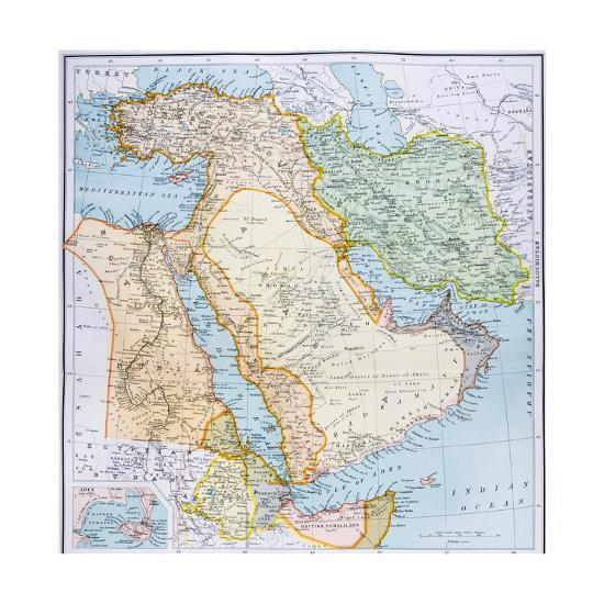 Map Of Turkey Middle East Horn Of Africa And Persian Gulf In The - Horn of africa map