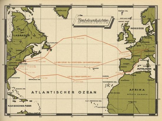 map-showing-the-transatlantic-routes-taken-by-lz-126-in-october