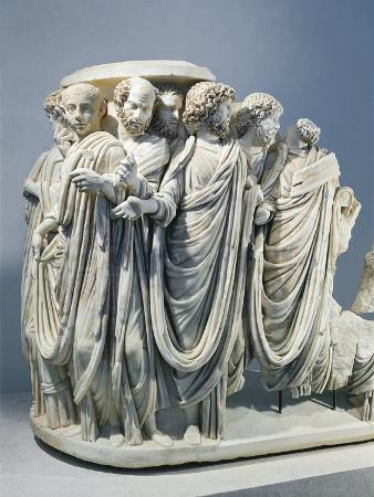 marble-fragment-of-acilia-sarcophagus-depicting-roman-senate-during-procession