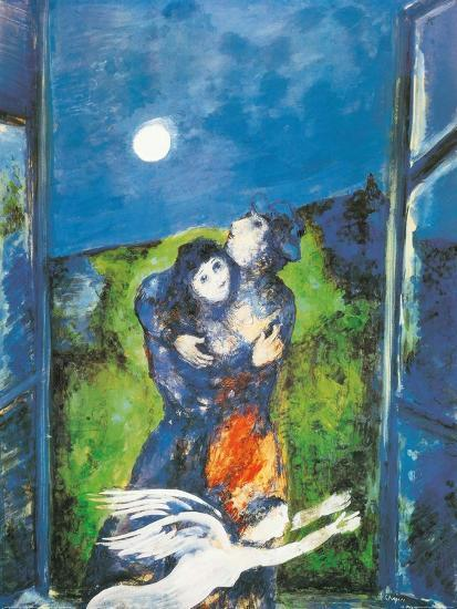 Lovers In Moonlight Art Print By Marc Chagall At Art