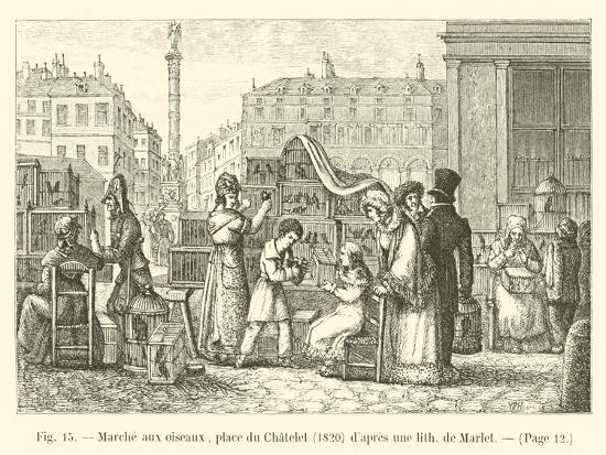 marche-aux-oiseaux-place-du-chatelet-1820-d-apres-une-lith-de-marlet