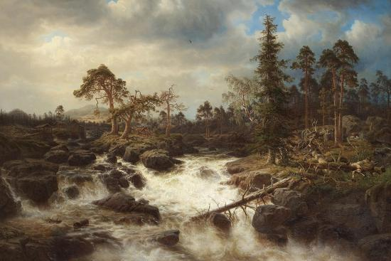 marcus-larson-romantic-landscape-with-waterfall