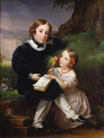 marie-eleonore-godefroid-portrait-of-the-children-of-pierre-jean-david-d-angers