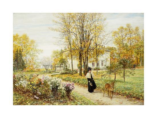 marie-francois-firmin-girard-promenade-on-an-autumn-day