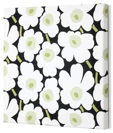 marimekko-mini-unikko-fabric-panel-blk-wht-grn-13x13