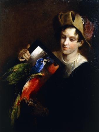 martin-ferdinand-quadal-a-boy-with-a-parrot