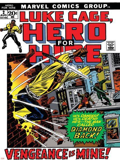 Book Cover Artist For Hire ~ Marvel comics retro luke cage hero for hire comic book