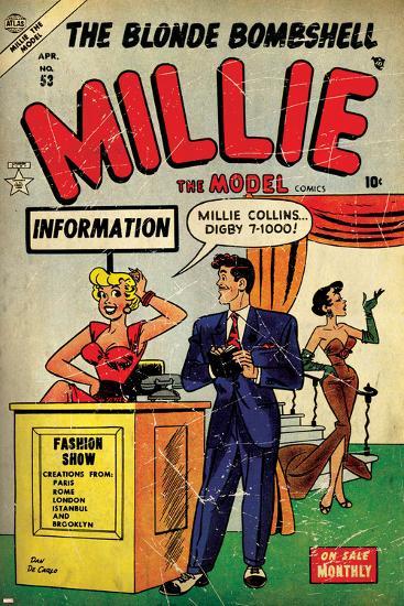 Comic Book Cover Art Prints : Marvel comics retro millie the model comic book cover no