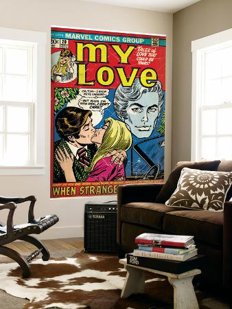 marvel-comics-retro-my-love-comic-book-cover-no-20-kissing-when-strangers-meet-aged