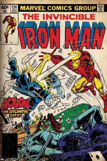 Comic Book Cover Art Prints ~ Marvel comics retro the invincible iron man comic book