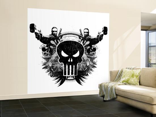 Marvel extreme punisher skull shooting gun wall mural large at marvel extreme punisher skull shooting gun publicscrutiny Gallery