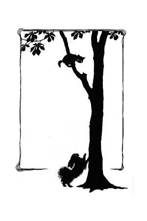 mary-baker-koko-the-dog-frightens-a-kitten-into-a-tree