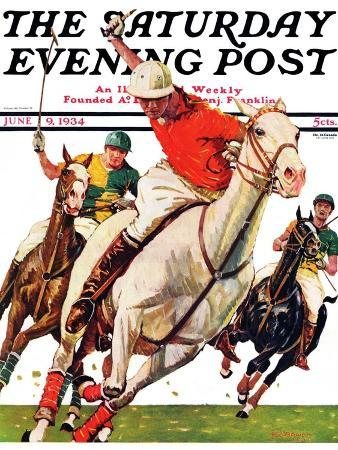 maurice-bower-polo-match-saturday-evening-post-cover-june-9-1934