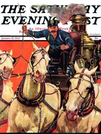 maurice-bower-racing-to-the-fire-saturday-evening-post-cover-january-12-1935