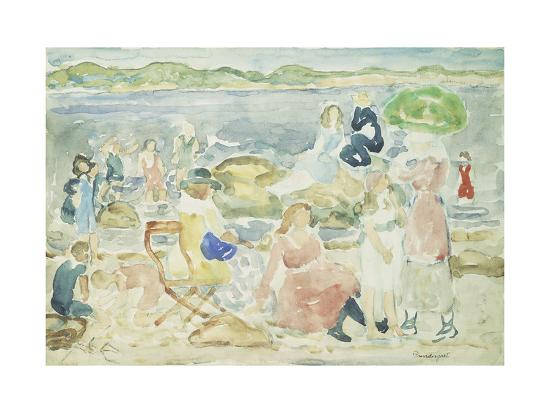 maurice-brazil-prendergast-a-day-at-the-beach