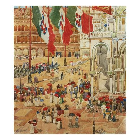 maurice-brazil-prendergast-the-piazza-of-st-marks-venice