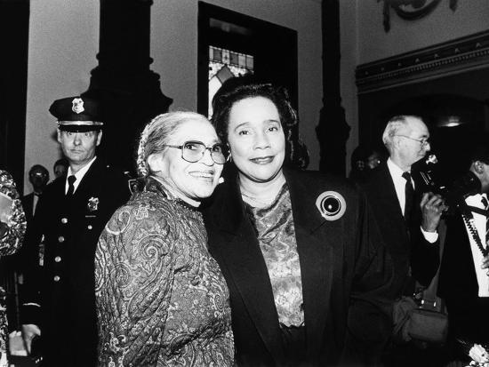maurice-sorrell-rosa-parks-and-coretta-scott-king-at-the-rosa-parks-sculpture-unveiling-1991