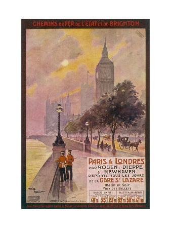 maurice-toussaint-by-rail-and-sea-from-paris-to-brighton-or-london-featuring-the-embankment-and-big-ben-6-of-8