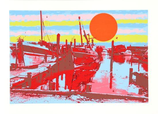 Freeport fishing boats collectable print by max epstein at for Freeport fishing boats