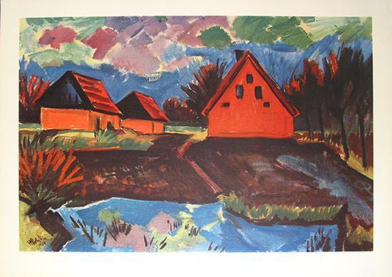Rote Häuser Bilder rote häuser collectable print by max pechstein at com