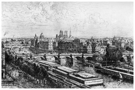 maxime-lalanne-paris-pris-du-louvre-c1850-1895