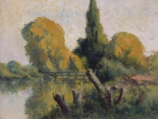 maximilien-luce-rolleboise-small-arm-of-the-seine-in-autumn-c-1925