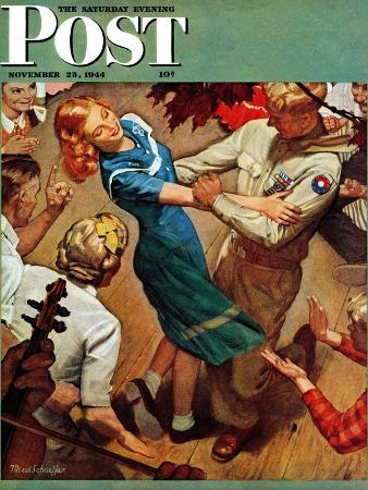 mead-schaeffer-barn-dance-saturday-evening-post-cover-november-25-1944