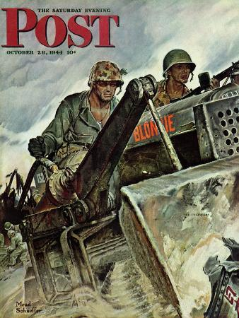 mead-schaeffer-corp-of-engineers-saturday-evening-post-cover-october-28-1944