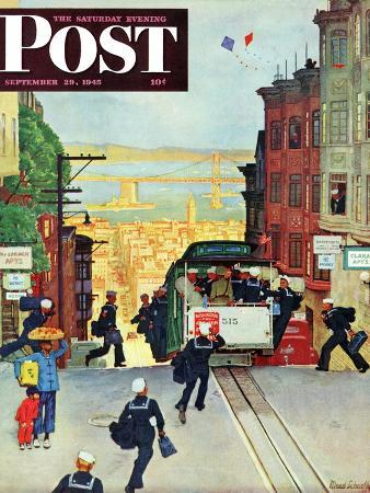 mead-schaeffer-san-francisco-cable-car-saturday-evening-post-cover-september-29-1945