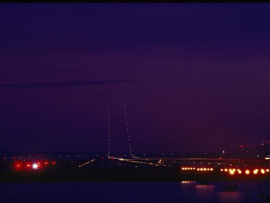 medford-taylor-national-airport-runway-at-night-washington-d-c