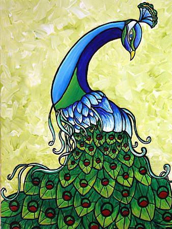 megan-aroon-duncanson-preening-peacock