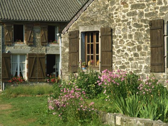 michael-busselle-exterior-of-a-village-house-at-wallers-trelon-in-picardie-france-europe