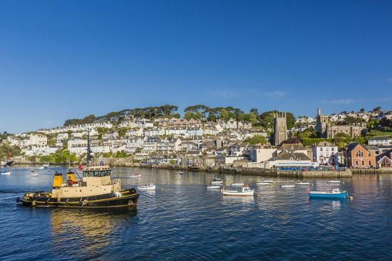 michael-nolan-early-morning-light-on-small-boats-at-anchor-in-the-harbour-at-fowey-cornwall-england