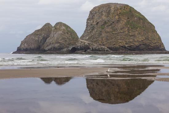 michael-qualls-oceanside-oregon-three-arch-rocks-seen-from-the-beach-at-low-tide