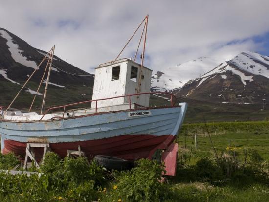 michael-runkel-fishing-boat-on-land-eyjafjordur-iceland-polar-regions