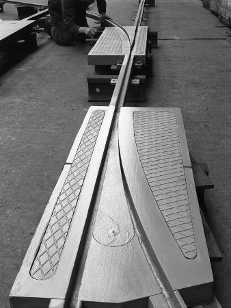 michael-walters-a-trackwork-junction-being-installed-in-a-sheffield-factory-south-yorkshire-1963