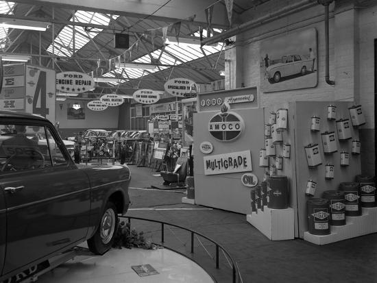 michael-walters-exhibition-at-a-ford-dealers-in-rotherham-south-yorkshire-1964