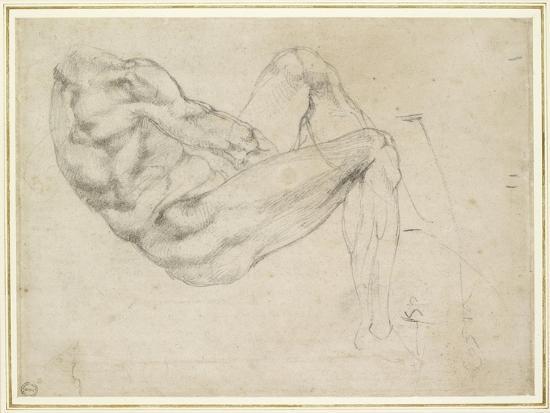 michelangelo-buonarroti-study-of-a-recumbent-male-figure-recto