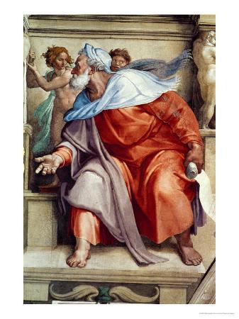 michelangelo-buonarroti-the-sistine-chapel-ceiling-frescos-after-restoration-the-prophet-ezekiel