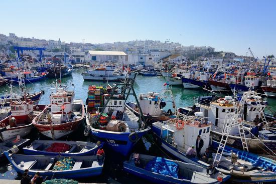 mick-baines-maren-reichelt-fishing-harbour-tangier-morocco-north-africa-africa