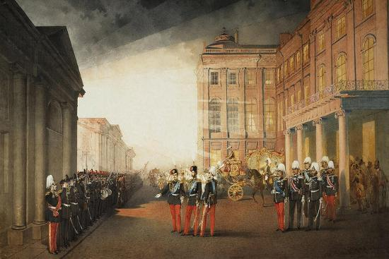 mihaly-zichy-parade-in-front-of-the-anichkov-palace-on-26-february-1870-1870