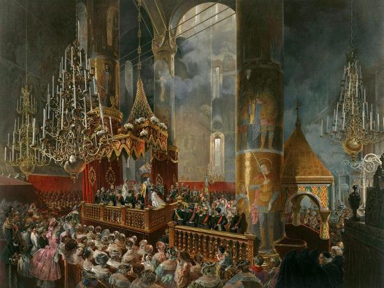 mihaly-zichy-the-crowning-of-tsarina-maria-alexandrovna-of-russia-moscow-1856