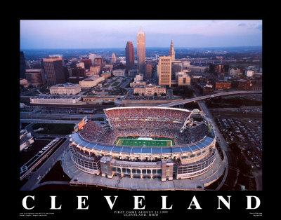 Browns Stadium Cleveland Ohio Art Print By Mike Smith