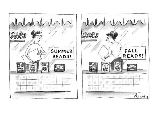 mike-twohy-a-bookstore-sign-in-the-window-summer-reads-promoting-four-books-below-new-yorker-cartoon