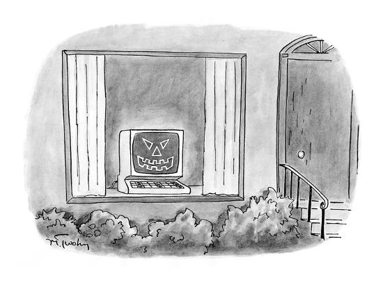 mike-twohy-computer-jack-o-lantern-in-window-of-house-cartoon