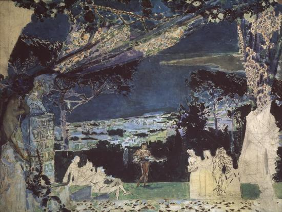 mikhail-alexandrovich-vrubel-italy-night-in-naples-curtain-design-for-the-private-russian-opera-1891