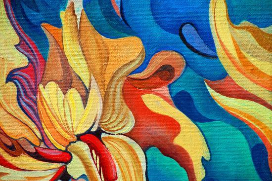 mikhail-zahranichny-decorative-flower-painting-by-oil-on-canvas-illustration