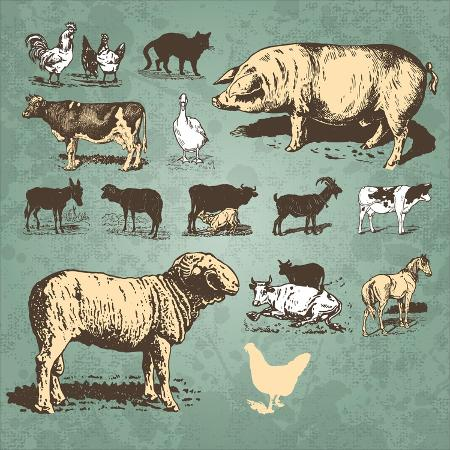 milalala-farm-animals-vintage-set