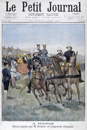 military-review-by-paul-doumer-and-the-emperor-of-annam-hanoi-indochina-1902