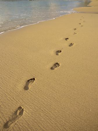 miller-john-footprints-in-the-sand-on-a-beach